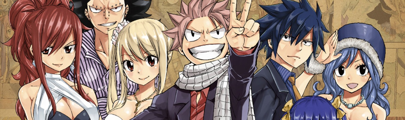 Fairy Tail ganha arte para comemorar o final do anime